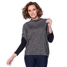 Jones NY Striped Marled Jersey Sweater - Missy