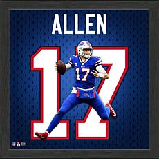 Josh Allen Impact Jersey Framed Photo