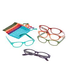 JOY 10-piece SHADES Readers in Smart Design Frames