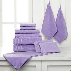 Joy Mangano Purple Bath Towels Sets HSN