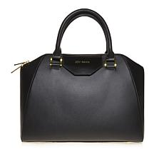 JOY & IMAN Tassel Chic Leather Satchel with RFID Crossbody