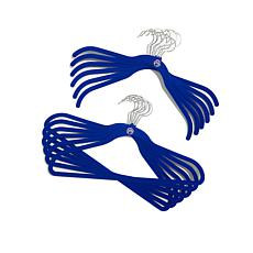 JOY Huggable Hangers® 48-pack with Pant/Skirt Clips - Chrome