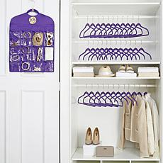 JOY Space-Saving Huggable Hangers® Buy 24, Get 12 & Organizer - Brass