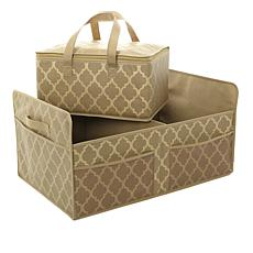 JOY Ultimate Closet Trunk Organizer with Insulated Tote - Brass