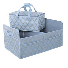 JOY Ultimate Closet Trunk Organizer with Insulated Tote - Chrome