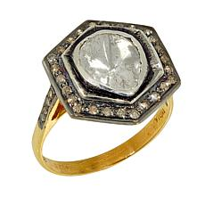 Joya 2-Tone Polki Diamond Halo-Style Ring