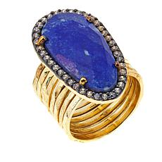 Joya Lapis and CZ Statement Ring