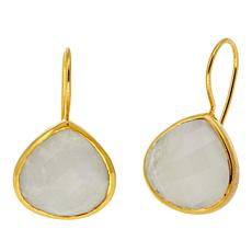 Joya Moonstone Goldtone Drop Earrings