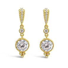 Judith Ripka 14K Gold Clad Sterling Silver Diamonique® Dangle Earrings