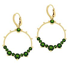 Judith Ripka 14K Gold-Plated Chrome Diopside Doorknocker Earrings