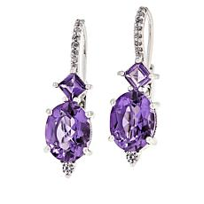 Judith Ripka Amethyst and Diamonique® Drop Earrings