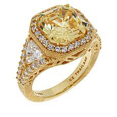 Judith Ripka Asscher-Cut Diamonique® Engagement Ring