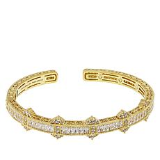 Judith Ripka Diamonique® Estate-Design Hinged Cuff Bracelet