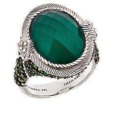 Judith Ripka Green Goddess Chalcedony and Multi-Gemstone Ring