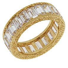 Judith Ripka Sterling Silver 14.2ctw Diamonique® Eternity Band Ring