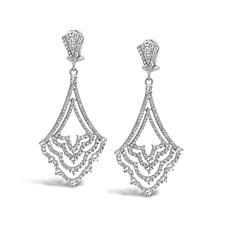 Judith Ripka Sterling Silver Diamonique® Chandelier Earrings