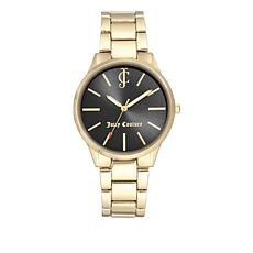 Juicy Couture Black Dial Goldtone Bracelet Watch
