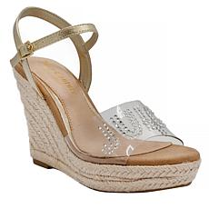 Juicy Couture Cristall Espadrille Wedge Sandal