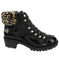 Juicy Couture Indulgence Fur Collar Hiker Boot