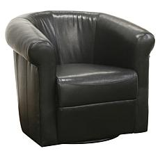 Julian Leather-Like Club Chair with 360 Swivel