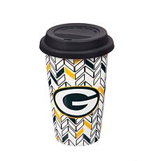 Just Add Color, Travel Cup, Chevron - Green Bay Packers