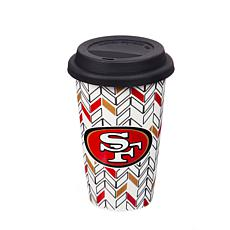 Just Add Color, Travel Cup, Chevron - San Francisco 49ers