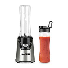 Kalorik Personal Blender with 2 Tritan Bottles - Stainless Steel