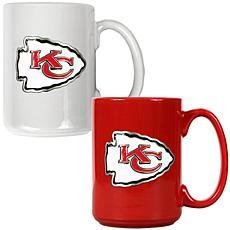 Kansas City Chiefs 2pc Coffee Mug Set