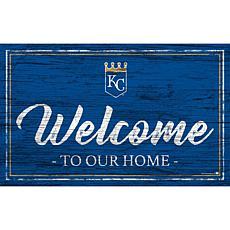 "Kansas City Royals Team Color Welcome Sign - 11x19"""