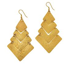 KENDI AMANI Amina Goldtone Dangle Earrings