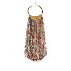 "KENDI AMANI Maasai 16"" Hand-Beaded Bib Necklace"