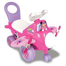 Kiddieland Toys Lights n' Sounds Minnie Activity Plane Ride-On