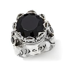 King Baby Jewelry Simulated Stone & CZ Crown Ring