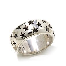King Baby Sterling Silver Mini Star Band Ring