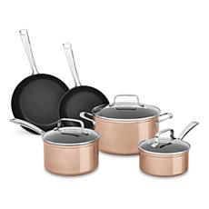 KitchenAid® 8-piece Hard-Anodized Nonstick Cookware Set