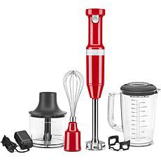 KitchenAid Cordless Hand Blender w/ Chopper & Whisk, Passion Red