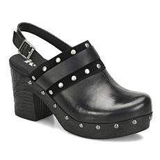 Korks Melrosa Leather and Suede Platform Clog