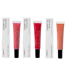 Korres 3-pack Cherry Oil Lip Gloss