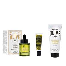 Korres 3-piece Olive Oil Cleanse and Tighten Collection