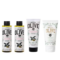 Korres 4-piece Olive Oil & Golden Apple Age-Defying System