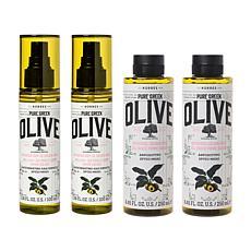 Korres 4-piece Olive Oil & Golden Apple Set