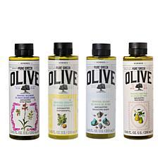 Korres 4-piece Pure Greek Olive Oil Shower Gel Collection