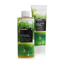 Korres Basil Lemon Shower Gel and Body Butter Duo