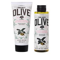 Korres Olive Oil & Golden Apple Shower Gel and Body Cream