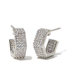 """Kristin Chenoweth """"Small but Powerful"""" Angled Hoops"""