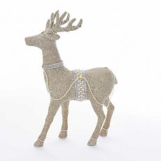 Kurt Adler Glitter Deer Tabletop Figure - 18""