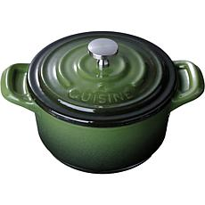 "La Cuisine Mini Round 4"" Cast Iron Casserole with Enamel Finish - G..."