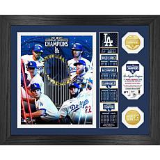 LA Dodgers 2020 World Series Champions Banner Bronze Coin Photo Mint