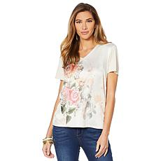 LaBellum by Hillary Scott Mixed Media Printed Tee