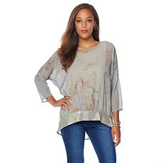 LaBellum by Hillary Scott Printed Georgette Top